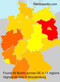 Familiennamen Bowitz - Germany