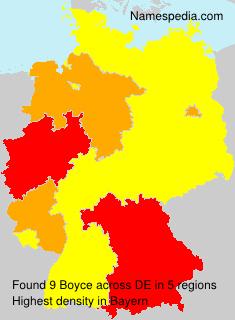 Surname Boyce in Germany