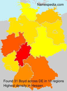 Surname Boyd in Germany