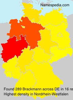 Surname Brackmann in Germany