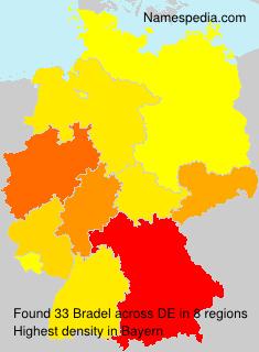 Familiennamen Bradel - Germany
