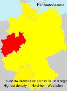 Surname Brakensiek in Germany