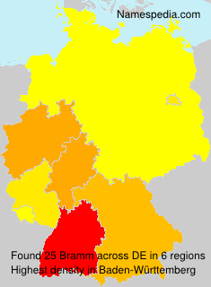 Surname Bramm in Germany