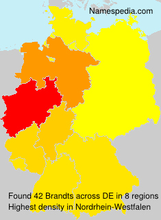 Surname Brandts in Germany
