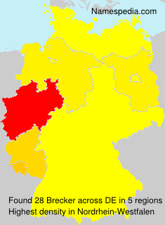 Surname Brecker in Germany