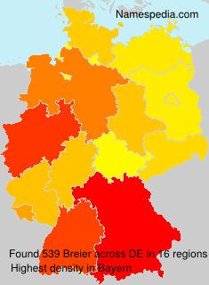 Familiennamen Breier - Germany