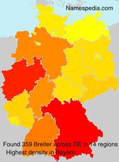 Familiennamen Breiter - Germany
