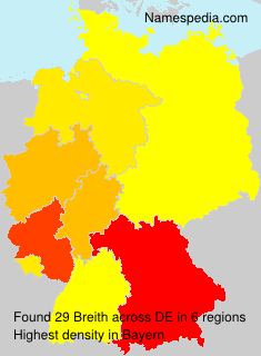 Familiennamen Breith - Germany