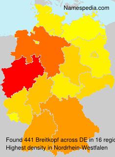 Surname Breitkopf in Germany