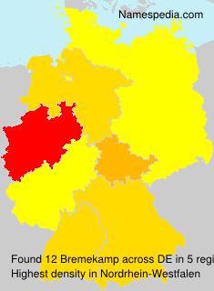 Surname Bremekamp in Germany