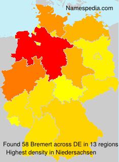 Familiennamen Bremert - Germany