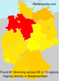 Surname Brenning in Germany