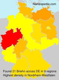 Surname Briehn in Germany