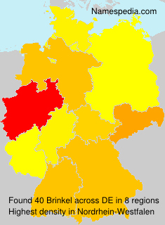 Surname Brinkel in Germany