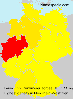 Surname Brinkmeier in Germany