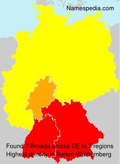 Familiennamen Brnada - Germany