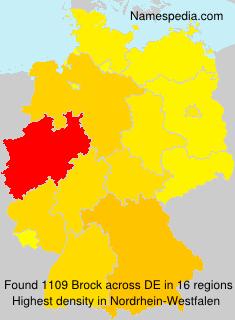 Surname Brock in Germany
