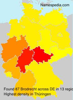 Surname Brodrecht in Germany