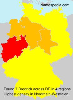 Surname Brodrick in Germany