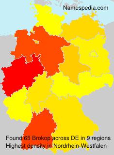 Surname Brokop in Germany