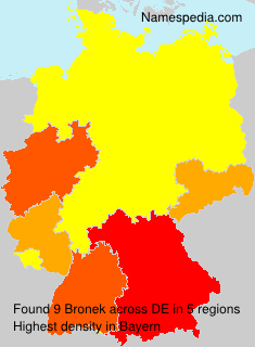 Familiennamen Bronek - Germany