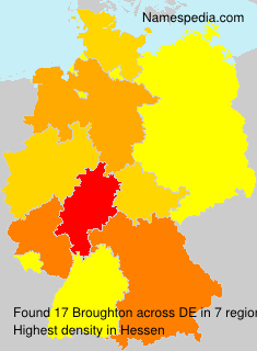 Surname Broughton in Germany