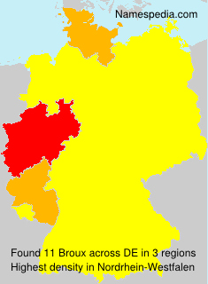 Surname Broux in Germany