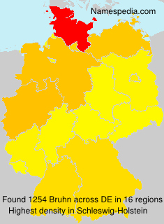 Surname Bruhn in Germany