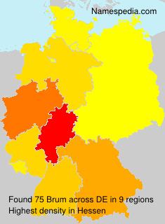 Familiennamen Brum - Germany