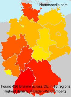 Surname Brumm in Germany