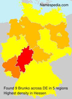 Surname Brunko in Germany