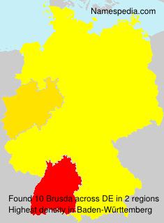 Familiennamen Brusda - Germany