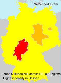 Familiennamen Bubenicek - Germany