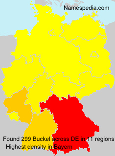 Surname Buckel in Germany