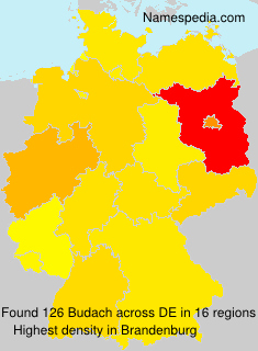 Surname Budach in Germany