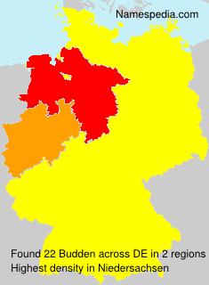 Familiennamen Budden - Germany