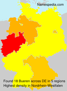 Surname Bueren in Germany