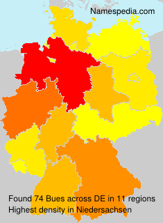 Surname Bues in Germany