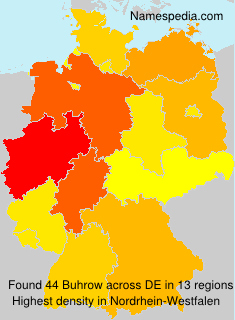Surname Buhrow in Germany