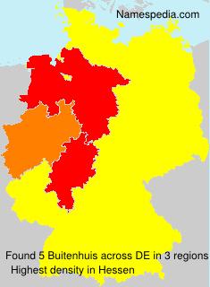 Surname Buitenhuis in Germany