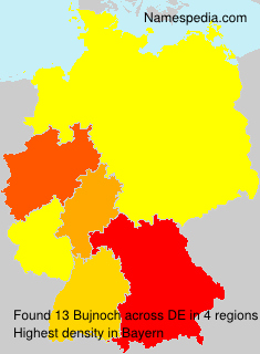 Surname Bujnoch in Germany