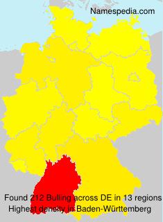 Surname Bulling in Germany