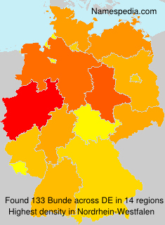 Surname Bunde in Germany