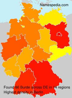 Familiennamen Burde - Germany
