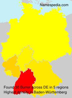 Surname Burrer in Germany