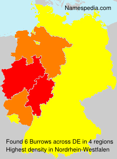Surname Burrows in Germany