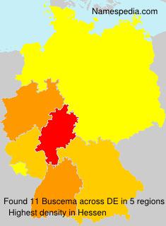 Familiennamen Buscema - Germany