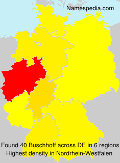 Surname Buschhoff in Germany