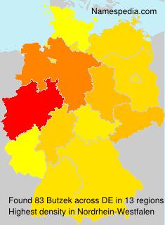 Surname Butzek in Germany
