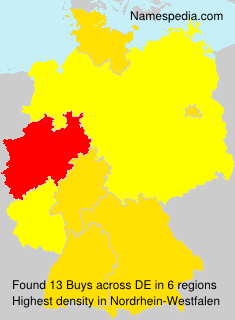 Surname Buys in Germany